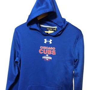 CHICAGO CUBS YOUTH UNDER ARMOUR HOODIE